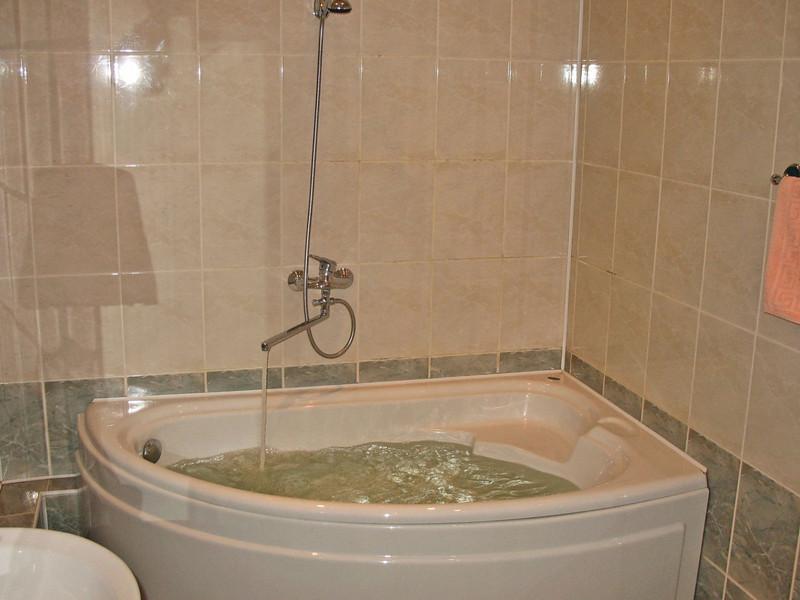 A big bathtub.
