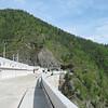 Atop the dam.