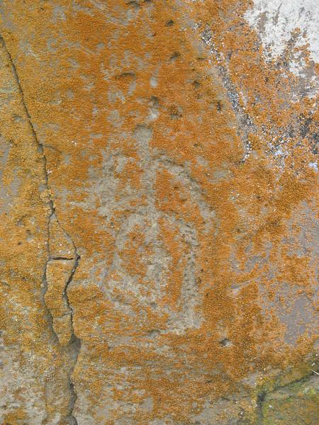Petroglyph on stone.