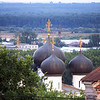 The domes of the Uspensky (Assumptiom) Trifonov monastery in Kirov.