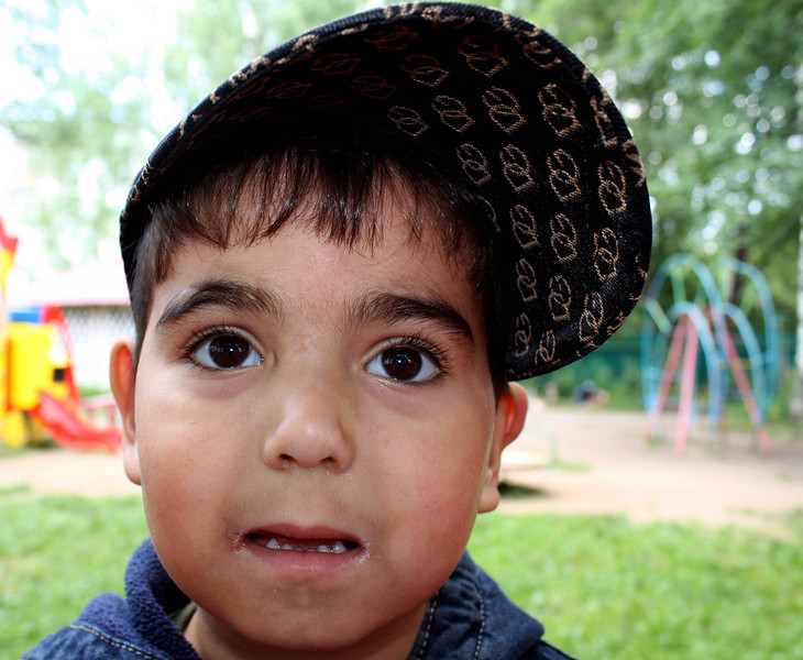 Young boy at the Nadezhda orphanage.