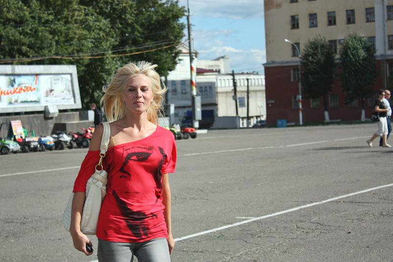 Girl on the street in Kirov.