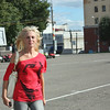 Girl on the street in Kirov.