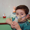 Little Maxim getting an inhalation treatment. Максим делает ингаляцию.