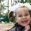 Smiling girl at the Nadezhda orphanage.