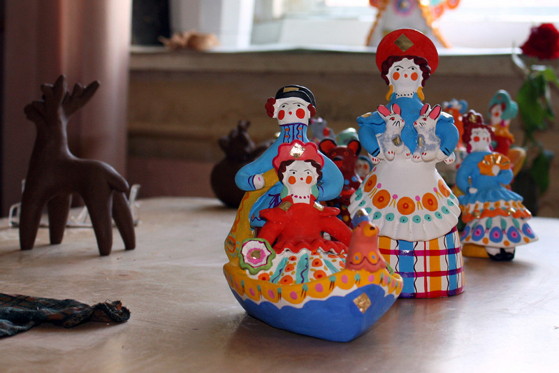 Kirov is famous for its Dymkovo toys.