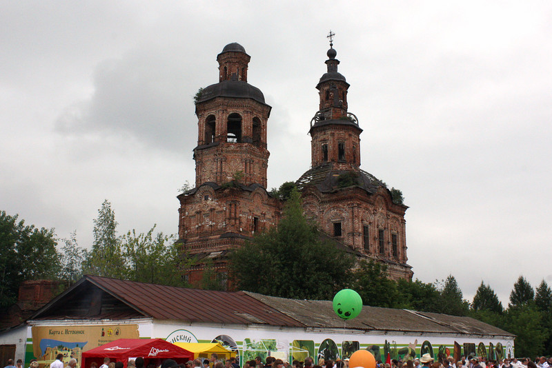 An old cathedral near the festival grounds.