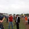 RT's Igor Ogorodnev doing a standup at the cucumber festival.