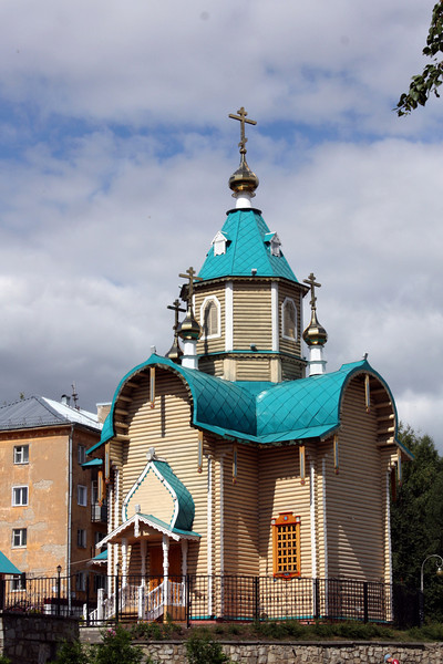 Kirov's wooden Church of Theodor Icon of Mother of God.