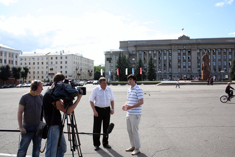 Shooting in the center of Kirov.