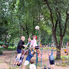 Playing outdoors at the Nadezhda (Hope) orphanage.