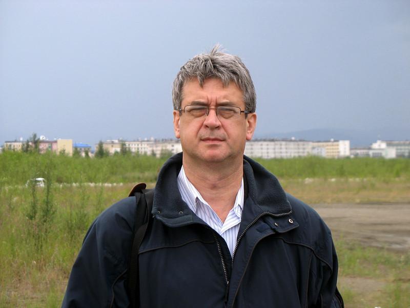 Can barely keep my eyes open. Susuman Airfield, Magadan Region.