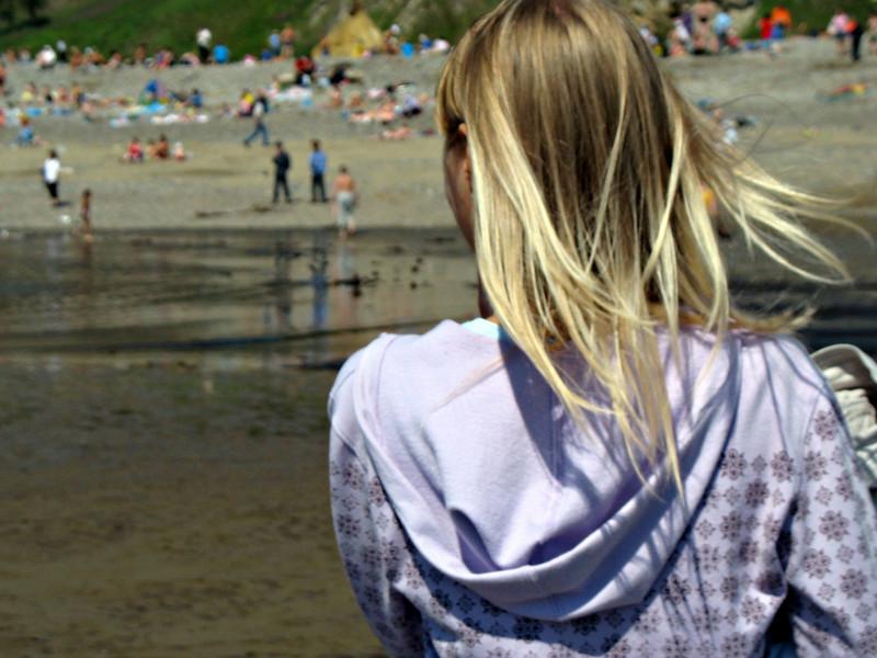 Watching the beach-goers.