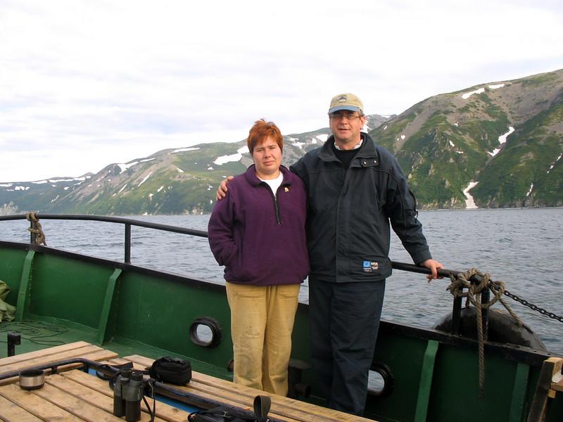 With Irina Utekhina, Deputy Head of the Magadanskii National Preserve.