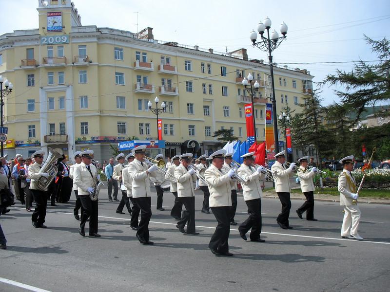 Parade marching band.