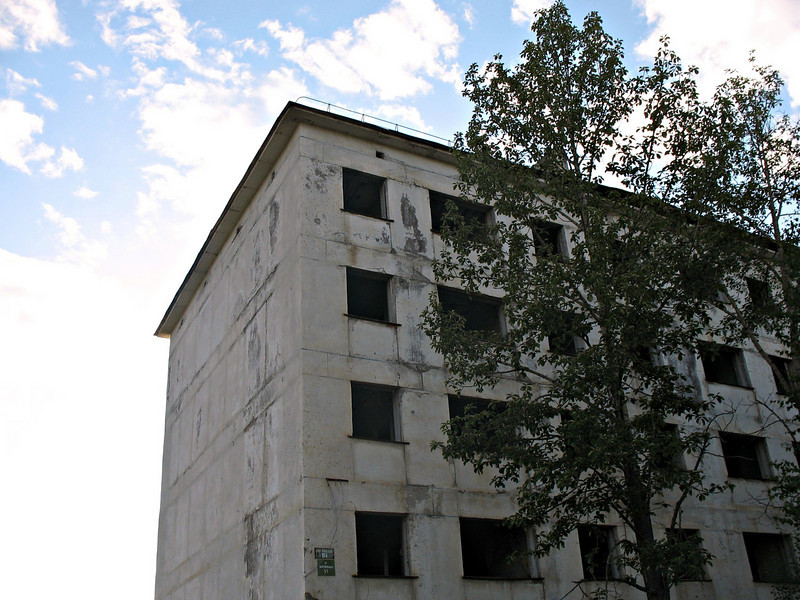 "Abandoned gold miner accomodations. ""Спорная"" settlement. (Magadan region)"