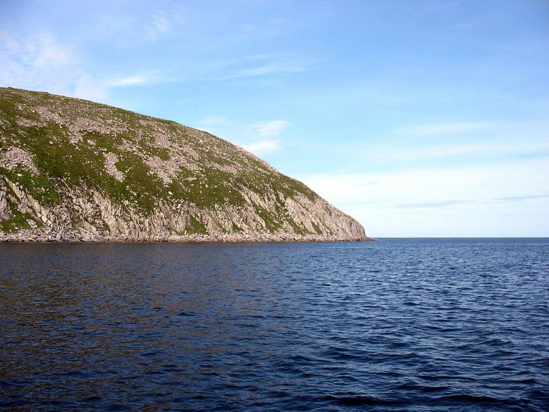 Morning view of Zavyalov Island in the Sea of Okhotsk.