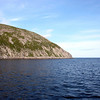 Morning view of Zavyalov Island in the Sea of Okhotsk.