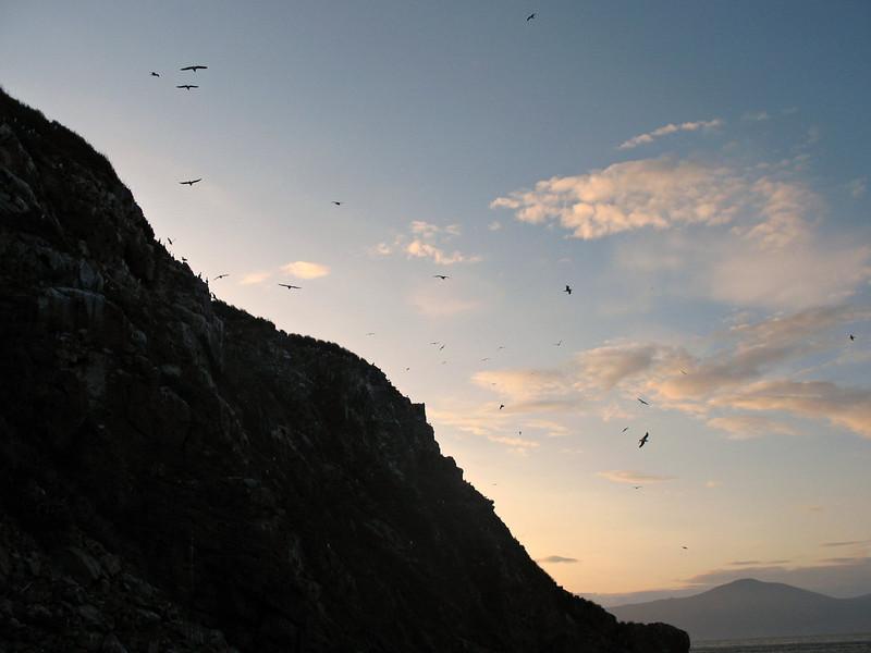 Umara Island silhouette.