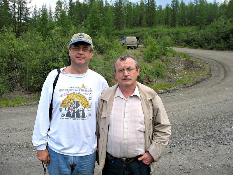 With local historian Ivan Panikarov.