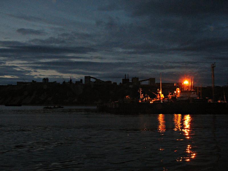 Departing Nagayevo Bay headed towards the Koni Peninsula in the Sea of Okhotsk.