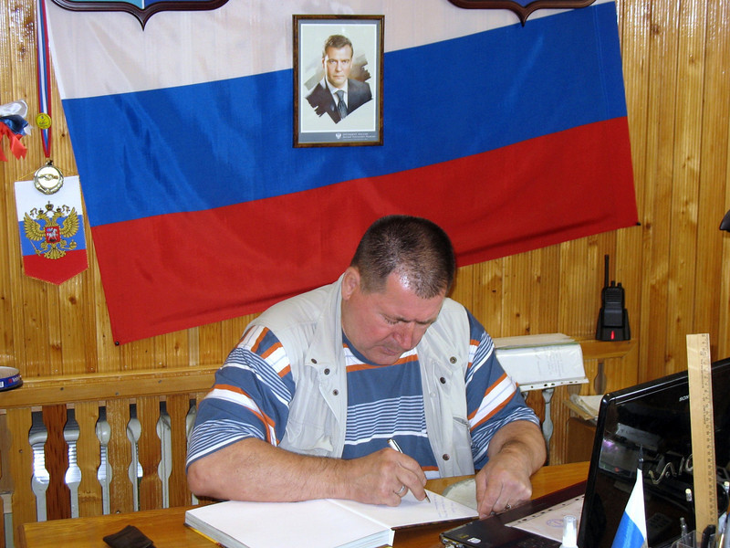 Nikolai Derezhnetz, head of the Polevaya gold factory & mines.