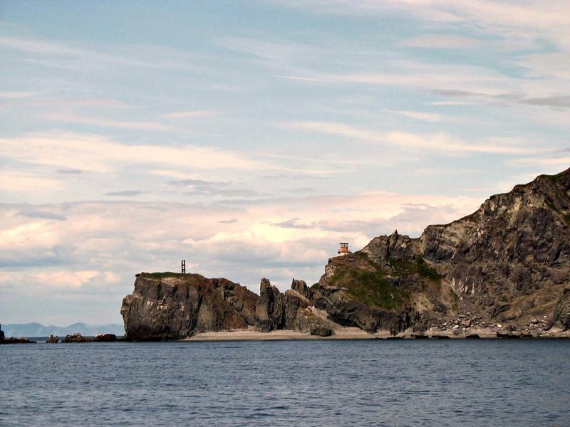 Cape Taran lighthouse. (Koni Peninsula. Sea of Okhotsk. Russian Far East)