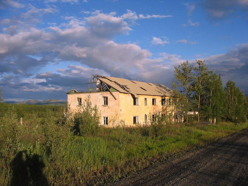 Light on abandoned housing.