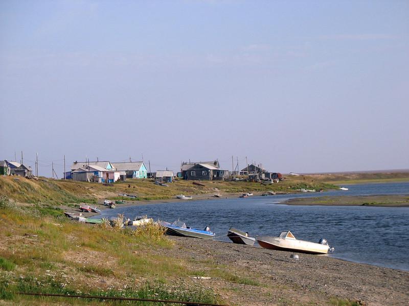 Arctic fishing village, Karatayka.
