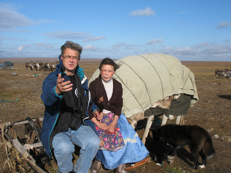 Requesting a copy of her photo, I was told to simply address it with her name, Big Tundra (there are 3 tundra regions), Nenets Autonomous District. I hope she receives them.