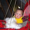 Nenets baby. Sveta & Fyodor's baby in her swing.