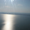 The Barents Sea as seen from a dirty helicopter window. On our way to Karatayka.