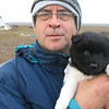 With cute tundra puppy.