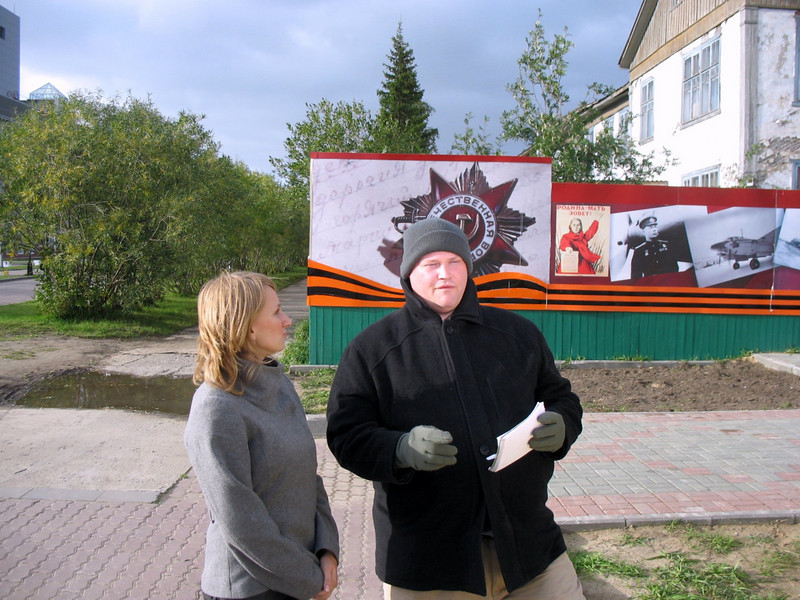 RT live on air with guest. (Nar'yan-Mar,Russia)