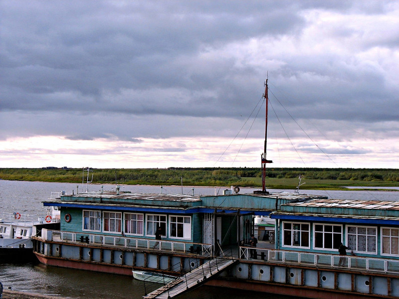 Embarkation point for boats on the Pechora River. (Nar'yan-Mar, Siberia, Russia)