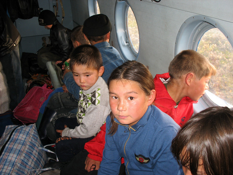 A sad time as kids head off to school in Karatayka. Most won't see their parents until next summer.