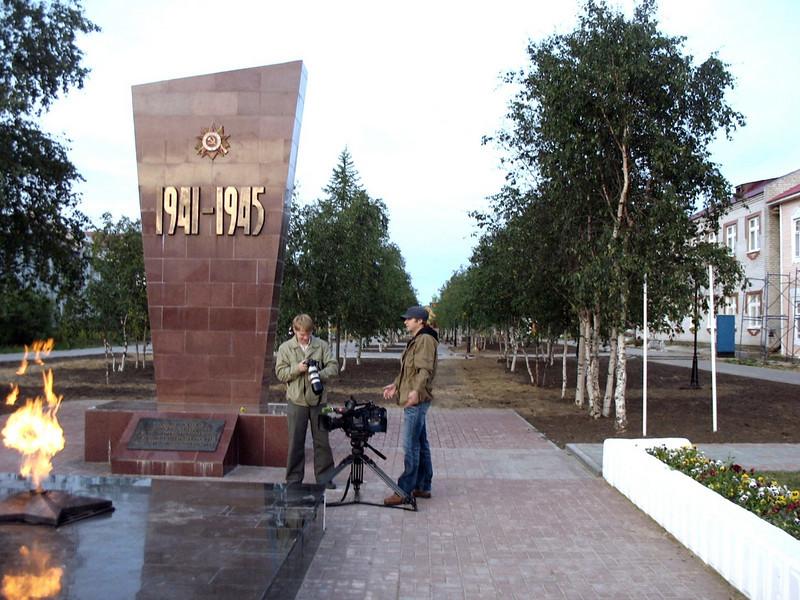 Shooting near the Nar'yan-Mar war memorial.