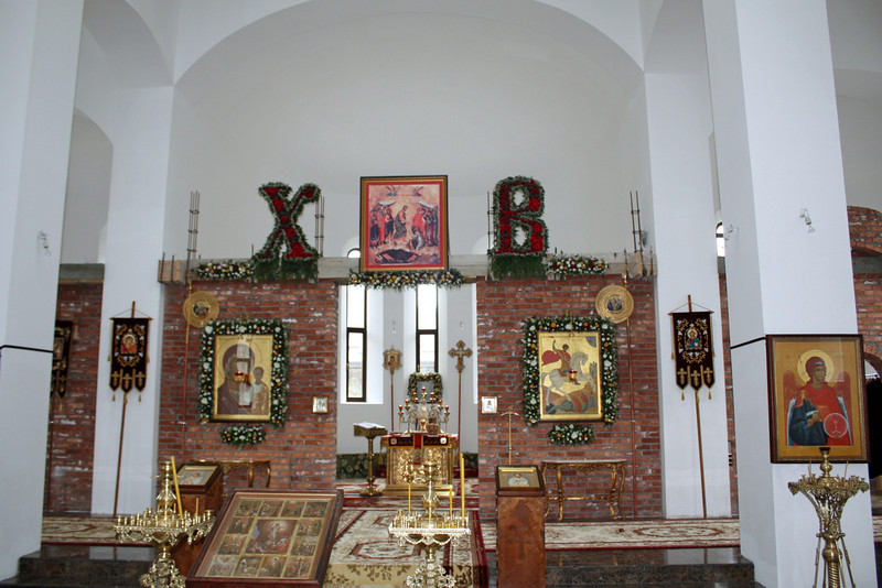 """The monastery's church. The letters """"X"""" """"B"""" stand for """"Christ has risen."""