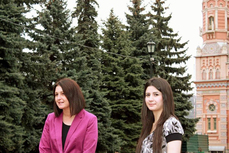 RT correspondent, Madina Kochenova with Khadizha.