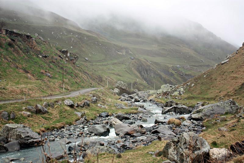 Mountain river in Dargavs.