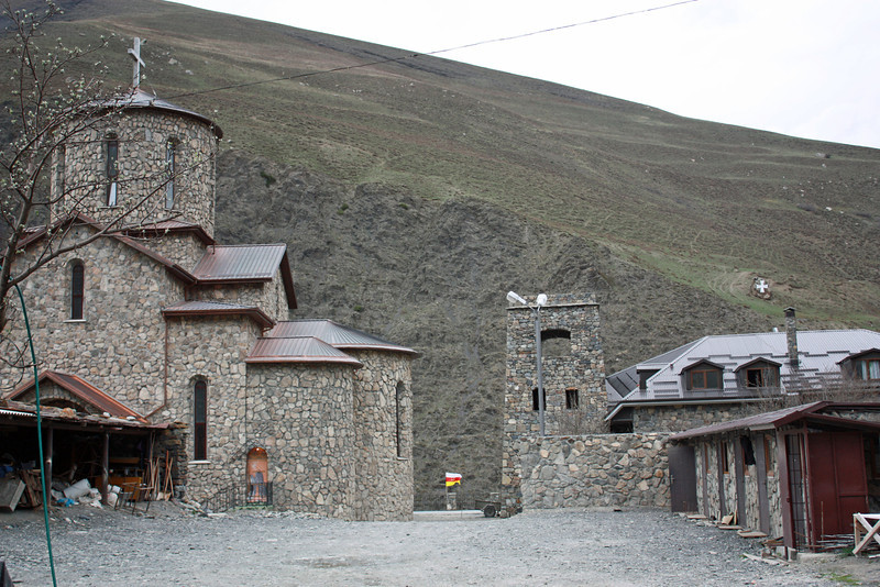 The monastery's located high up in the mountains of North Ossetia.