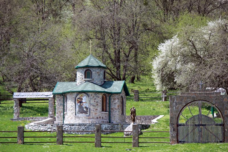 Little chapel in the field.