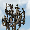 Detail of the Beslan cemetery's tree of grief monument.