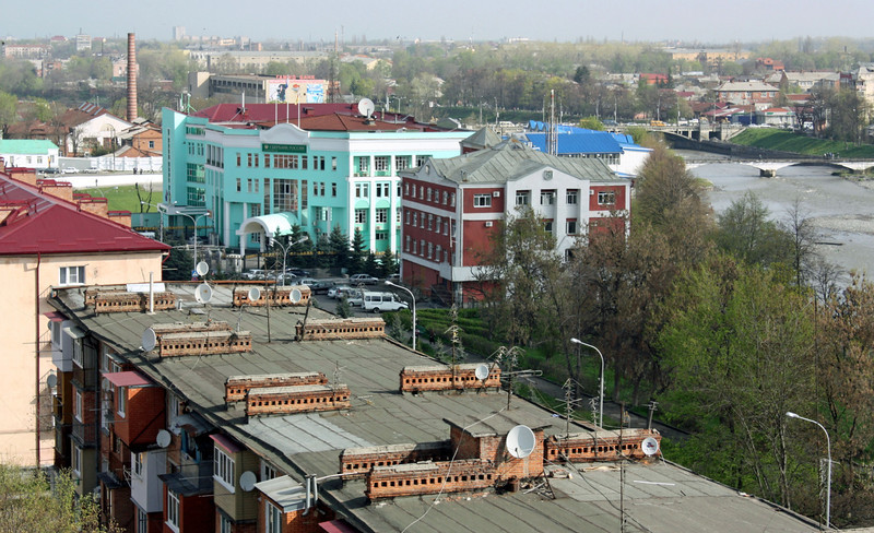 Roofs of Vladikavkaz. Крыши Владикавказа.