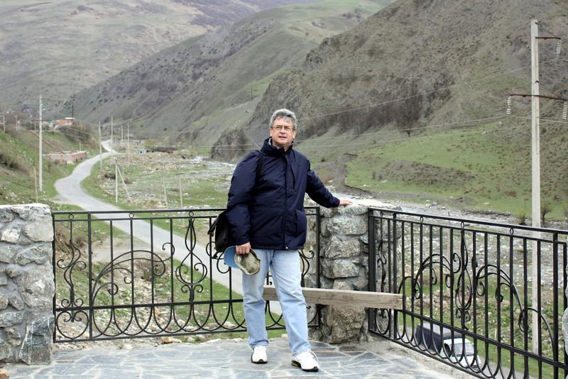 Rustem at the monastery in Kurtatin Gorge.