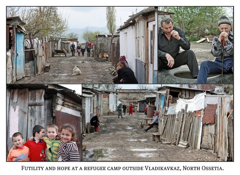 The Kambileevskoe refugee camp in North Ossetia.