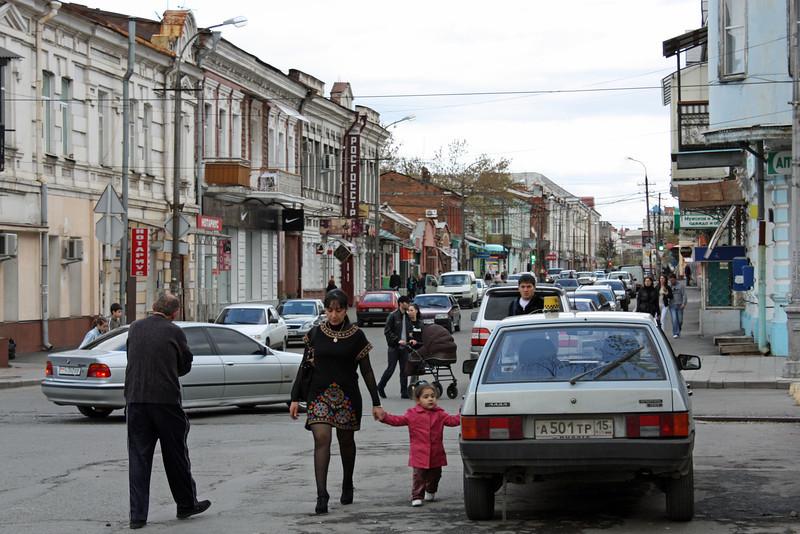 On the street in Vladikavkaz.