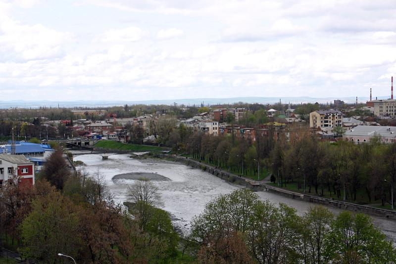 The Terek River in Vladikavkaz.