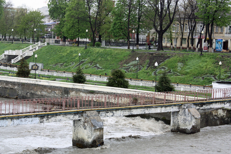 Bridge across the Terek River.