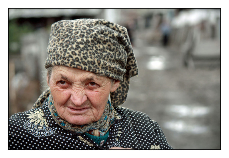 A refugee from the former Soviet Republic of Georgia, this Ossetian woman has lived in the Kambileevskoe refugee camp in North Ossetia for almost 20 years.